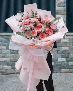Bó hoa hồng khổng lồ màu pastel - LDNK101