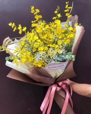 Bó hoa lan vũ nữ mix baby trắng - LDNK106