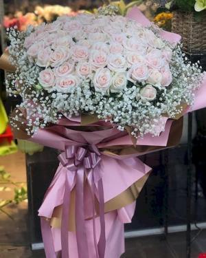 Bó hoa hồng pastel khổng lồ dành tặng bạn gái - LDNK115