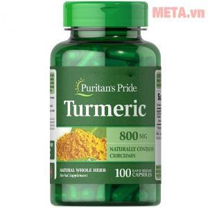 Viên nghệ Puritan's Pride Turmeric 800 mg ( Hộp 100 Viên)