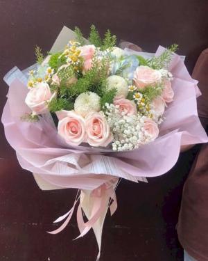Bó hoa tặng sinh nhật em gái gam màu nhẹ nhàng - LDNK131