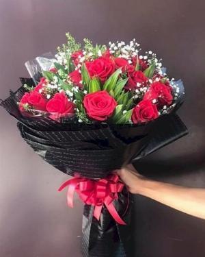 Bó hoa hồng đỏ chúc mừng ngày lễ tình nhân - LDNK143