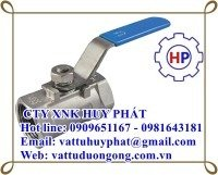 Van bi tay gạt ren DN15 ( phi 21) inox 304