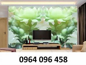 Gạch tranh ốp tường 3d mẫu hoa ngọc - DXC23