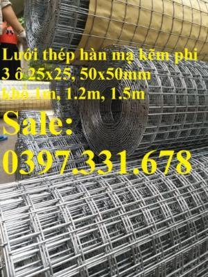 Lưới thép hàn mạ kẽm 3ly dạng cuộn sẵn kho tại Thanh Trì