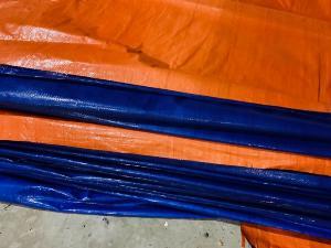 Bạt xanh cam, bạt xây dựng, che nắng mưa, che hàng hóa, nguyên cuộn khổ 4m x 50m