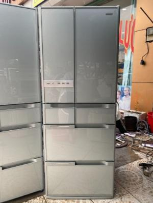 Tủ lạnh nội địa Hitachi 6 cánh Y5400 hút chân không mặt gương kính cường lực