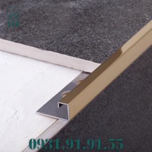 Nẹp góc vuông kế thúc gạch bằng inox - Nẹp góc vuông kết thúc sàn - Nẹp kết thúc dạng vuông