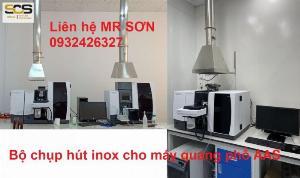 Bộ chụp hút inox cho máy quang phổ AAS