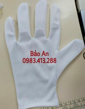 Găng tay cottong màu trắng