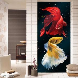 Tranh cá chép ốp tường phong thuỷ