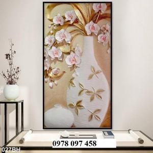 Tranh bình hoa đẹp - tranh gạch