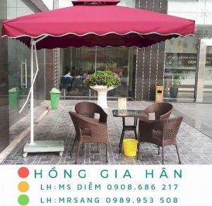 Dù vuông lệch tâm cho quán cafe, quán ăn, nhà hàng, hồ bơi resort Hồng Gia Hân D014