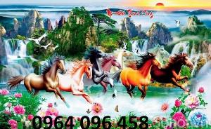 Tranh con ngựa 3d - tranh gạch con ngựa 3d - SKBV3