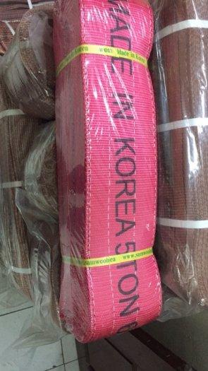 Dây cẩu hàng 10 tấn hàn quốc, Cáp vải cẩu hàng 8 tấn, cáp vải bản dẹt 5 tấn giá rẻ nhất Miền Bắc