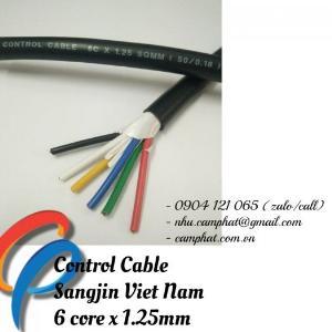Cáp điều khiển Sangjin (ISO 9011) 6c x 1.25 SQMM Standard of Korea