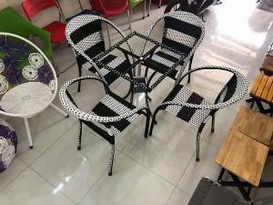 Bàn ghế nhựt trắng đen mây nhựa  có đủ màu sắc giá sì tại xưởng sản xuất anh khoa  344444