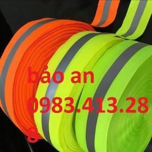 Dây phản quang vải sọc ghi bản rộng 2,5cm và 5cm