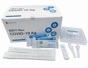 Kit test nhanh COVID-19 tai nhà SGTi-flex  Sugentech Hàn Quốc Xuất hóa đơn VAT