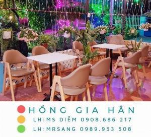 Bàn ghế quán ăn nhà hàng Hồng Gia Hân B014