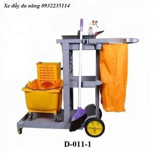Xe đẩy dọn vệ dinh đa năng, xe dọn vệ sinh công nghiệp