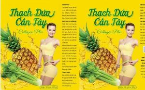 Thạch dứa cần tây collagen plus giảm cân nhanh chóng