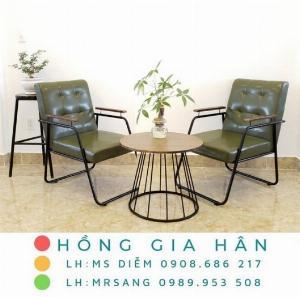 Sofa khung sắt sơn tĩnh điện Hồng Gia Hân B45