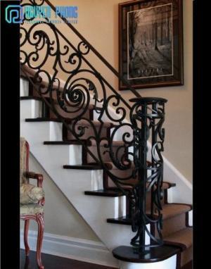 Những mẫu lan can cầu thang sắt uốn đẹp, mềm mại uyển chuyển cho biệt thự, nhà phố