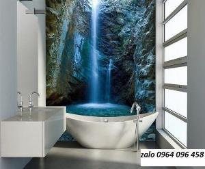 Tranh gạch 3d ốp tường phòng tắm - GCX2