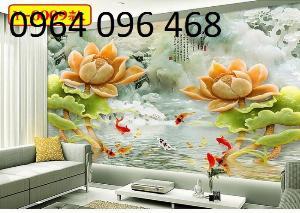 Chọn tranh gạch 3d phong thủy phòng khách - NV4