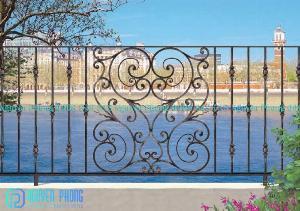 Hàng rào sắt uốn nghệ thuật, đẳng cấp cho ngôi nhà bạn với công nghệ sơn hiện đại