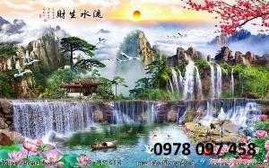 Tranh gạch phong cảnh - Hà Nội