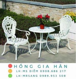 Bộ bàn ghế nhôm đúc sân vườn Hồng Gia Hân A53