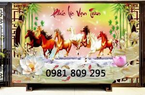 Tranh gạch - tranh ngựa 3d , bát mã