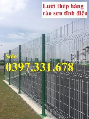 Hàng rào lưới thép, lưới thép hàng chập, lưới thép hàn phi 3, 4, 5 giá sỉ