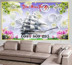 Tranh 3d thuyền - gạch tranh 3d - tranh ốp tường