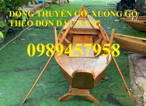 Sản xuất Thuyền gỗ ba lá, Thuyền gỗ trang trí 3m, Xuồng gỗ 3m, 4m
