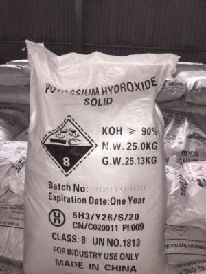 Potassium hydroxide solid (KOH) – Trung Quốc