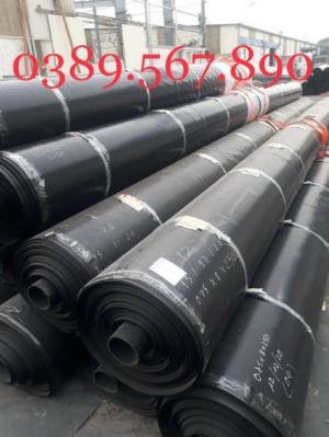Màng nylon đen hdpe 3zem khổ 6mx20m-120m2 lót dải cầu đường