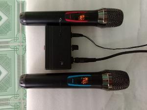 Bộ Micro không dây có báo Pin, sóng, setup được tần số ( hàng mới)