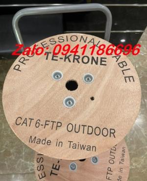 Cáp mạng TE-KRONE Cat6 Copper(đồng) ngoài trời có sợi thép cường lực