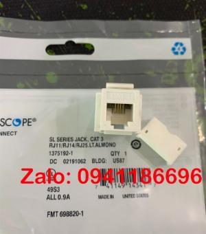 Nhân điện thoại Commscope Cat3 PN: 1375192-1
