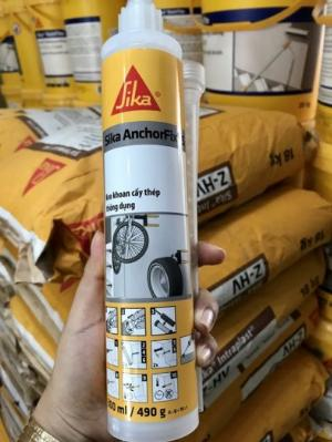 Keo khoan cấy thép thông dụng SIKA THẾ VŨ - Sika AnchorFix S (Tuýp 300ml)