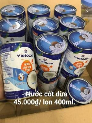 Nước cốt dừa vietcoco lớn 400ml