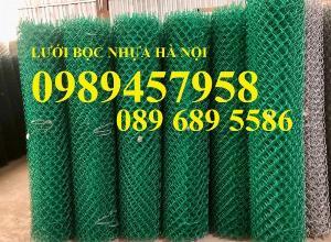 Sản xuất lưới hàng rào B40 bọc nhựa, lưới bọc nhựa mầu xanh