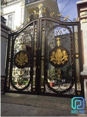 Mẫu cổng sắt mỹ thuật cho biệt thự được tìm kiếm nhiều nhất năm 2021