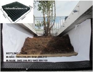 Vỉ nhựa thoát nước trồng cây trên mái