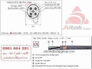 Cáp tín hiệu điều khiển 4 lõi 4x0.5, 4x0.75, 4x1.0, 4x1.5 sỉ - lẻ toàn quốc