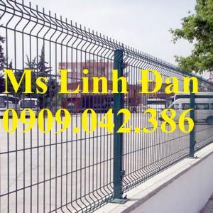 Hàng rào lưới phi 5 ô 50*150, 50*200, 75*200 mạ kẽm sơn tĩnh điện