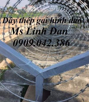 2021-09-26 10:10:14  14  Hàng rào dây thép gai hình dao, cách dăng dây thép gai hình dao mạ kẽm, 280,000
